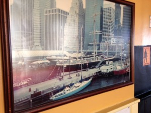 The last Arethusa in New York (blue boat, bottom of pic)